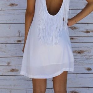 BB Dakota Elsa Fringe Back Dress